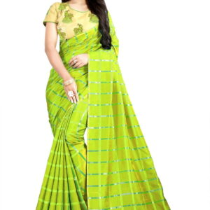 Fantastic Light Green Festive Wear Sana Silk Designer Embroidered Work Saree Blouse For Ladies