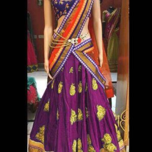 Blooming Wine Color Designer Embroidered Diamond Work Silk Fancy Lehenga Choli For Festive Wear