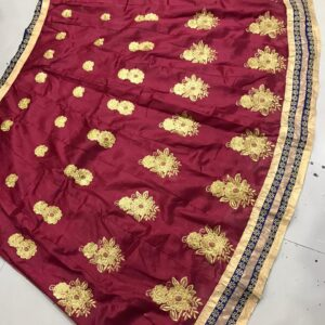 Marvelous Maroon Color Wedding Wear Silk Diamond Embroidered Designer Lehenga Choli