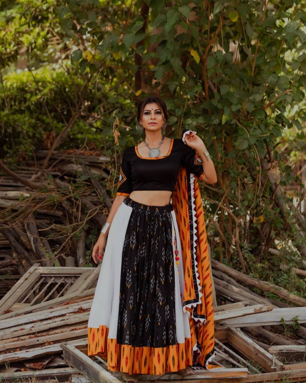 Unbelievable Black Color Designer Full Stitched Soft Silk Digital Printed Function Wear Lehenga Choli