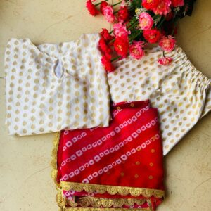 Preferable Off White Color Designer Full Stitched Jacquard Silk Butti Work Pent Salwar Suit For Wedding Wear