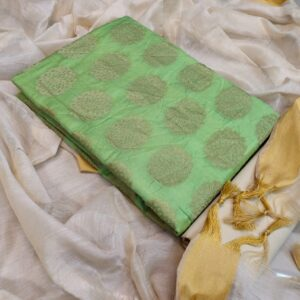 Opulent Light Green Color Function Wear Banarasi Jacquard Designer Dress Material